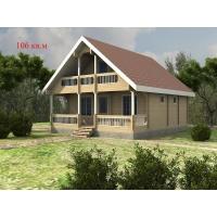 Деревянные дома из клееного бруса S=106 кв.м. Евлашевский ДОК