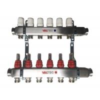 Коллектора для теплого пола 3-12 вхвых VALTEC с уровнемером и ручной регулировкой