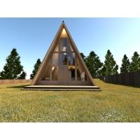 Каркасный дом  A-frame house