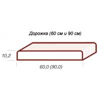 Монолитная бетонная дорожка шириной 60 см Мастербордюр