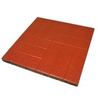 Травмобезопасная резиновая плитка EcoStep с узором «Кирпич» (толщина 30 мм)