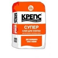 """Клей KREPS """"Супер"""" (25кг) для всех типов плитки, натурального кам"""