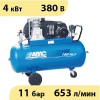 Масляный ременной двухступенчатый компрессор ABAC B5900B/100 CT5,5