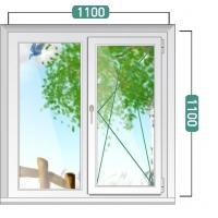 Пластиковое окно эконом 1100х1100 мм
