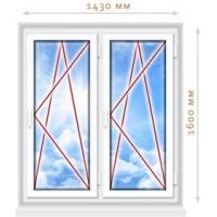 Пластиковое окно 1430х1500. Профиль VEKA EUROLINE (класс А, 58 м