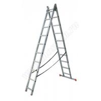 Металлическая лестница стремянка VINCO двухсекционная 7 ступеней