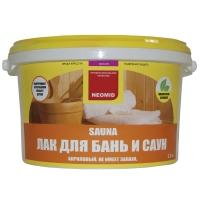 Лак для бань и саун NEOMID Sauna 2,5 л.
