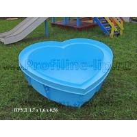 """Пруд садовый """"Сердце"""" из полипропилена (пластик)"""