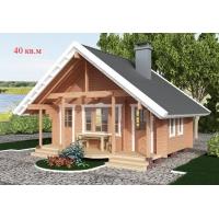Деревянные дома из клееного бруса S=40 кв.м. Евлашевский ДОК