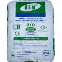 Легкая теплоизоляционная белая цементная штукатурка с перлитом «