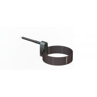 Хомут крепления трубы LINKOR (алюминий 1,2мм)  Диаметр 100 мм  штырь L=120мм
