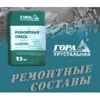 Безусадочная Ремонтная Смесь для Восстановления Бетона Гора Хрустальная МБР 600 литьевой тип
