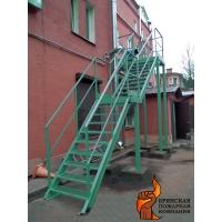 Лестница пожарная металлическая маршевая  П2