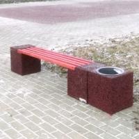 Продам Скамейку с урной из бетона и каменной крошки.  Не нуждается в постоянном уходе (окраске, чистке).