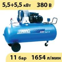 Масляный ременной двухступенчатый компрессор ABAC B6000/500 T7,5