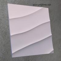 Гипсовая 3D панель - Волна диагональная крупная