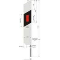 Столбик дорожный сигнальный металлический, 1500 мм