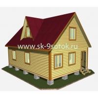 Дом из профилированного бруса 6х9 метра «Финляндия» СК 9 Соток