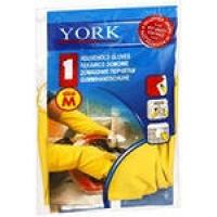 Перчатки York резиновые с хлопковым напылением