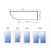 Холодное остекление (PROVEDAL, 4 окна: 500, 500, 500, 1400) Rehau