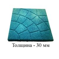 Травмобезопасная резиновая плитка «Паутинка»(толщина 30мм)