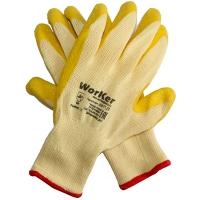 Перчатки с рельефным латексным покрытием WorKer per1120