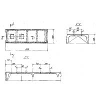 Плита железобетонная ребристая (высота 500 мм)  П3-2АIIIвт-П