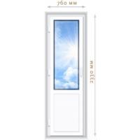 Пластиковая балконная дверь 760х2230 из профиля VEKA EUROLINE