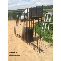 Секции заборные из металлических прутьев. Собственное производство