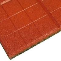 Травмобезопасная резиновая плитка «Сетка» 350*350(толщина 20мм)