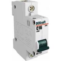 Автоматический выключатель серии ВА101-1P-001A-B DEKraft
