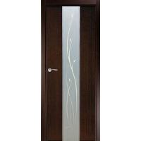 """Двери межкомнатные Матадор Дверное полотно """"Астра"""" (венге)/ бел. дуб"""