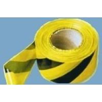Лента оградительная  75мм х 200м черно-желтая