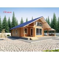 Деревянные дома из клееного бруса S=130 кв.м. Евлашевский ДОК