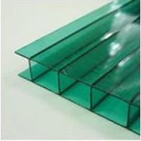 Сотовый поликарбонат  (цвет: зеленый )