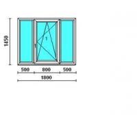 Двери, окна, лоджии из профилей REHAU Окно трехстворчатое 137- серию