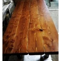 Обеденный стол из слэбов Сибирской Лиственницы