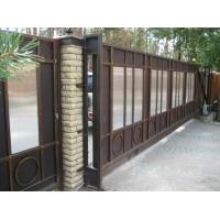 Автоматические ворота откатные, усиленные, с элементами ковки Аверс-Гейт