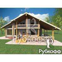 Проект дома П26 ООО Рубкофф Оцилиндрованное бревно 260 мм