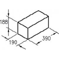 Керамзитобетонные полнотелые  блоки