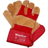 Перчатки комбинированные со спилком  усиленные артикул per2120 WorKer