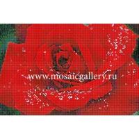 """Мозаичное панно  """"Красная роза"""""""