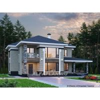 «Фрида» - проект современного двухэтажного дома с удобной планир Альфаплан 778A