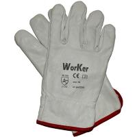 Перчатки кожанные с флисовой подкладкой WorKer per2210