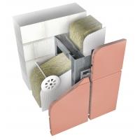 Подсистема из нержавейки для вентфасада Ньютон Системс для облицовки плитами из натуральной керамики