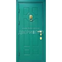 Окрашенная металлическая дверь МДФ