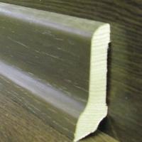 Шпонированный плинтус  шпон мореного дуба Weitzer-Parkett