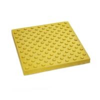 Тактильная плитка (БЕТОН) 300х300х30 мм конус шахматное располож
