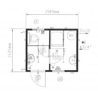 Сантехнический модуль (душ + туалет) CONTAINEX SA10'