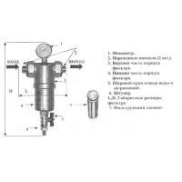 Фильтр для водоочистки  без  замены  картриджа Микропроволочные  технологии ФСМП